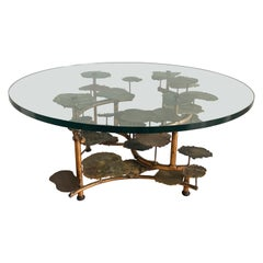Silas Seandal Lily Pad Mixed Metal Vintage Coffee Table