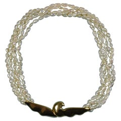 Tiffany & Co. 18K Multi-Strand Freshwater Pearl Necklace, Paloma Picasso