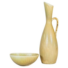 Midcentury Set of 2 Ceramic Pieces Carl Harry Stålhane, Sweden, 1950s