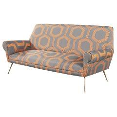 Italian Mid-Century Modern Sofa Settee