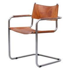 Mart Stam S34 Leather Bauhaus Cantilever Armchair