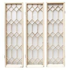 Three English Reclaimed Astral Glazed Windows