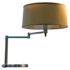 Vintage Swing Arm Lamp Mfg. by Laurel Lamps After a Classic Von Nessen Design