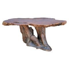 Live Edge Redwood Slab Side / Coffee Table