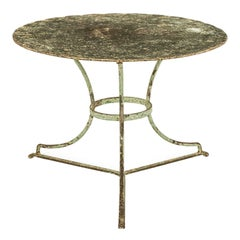 Vintage French Iron Round Garden Table