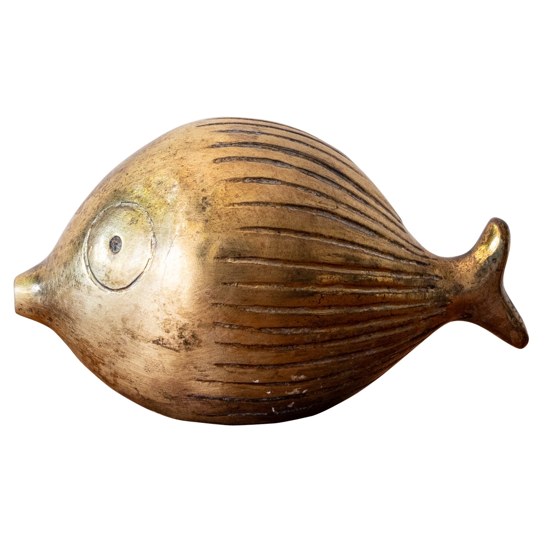 Brass Fish Bank by Ben Seibel for Jenfred-Ware