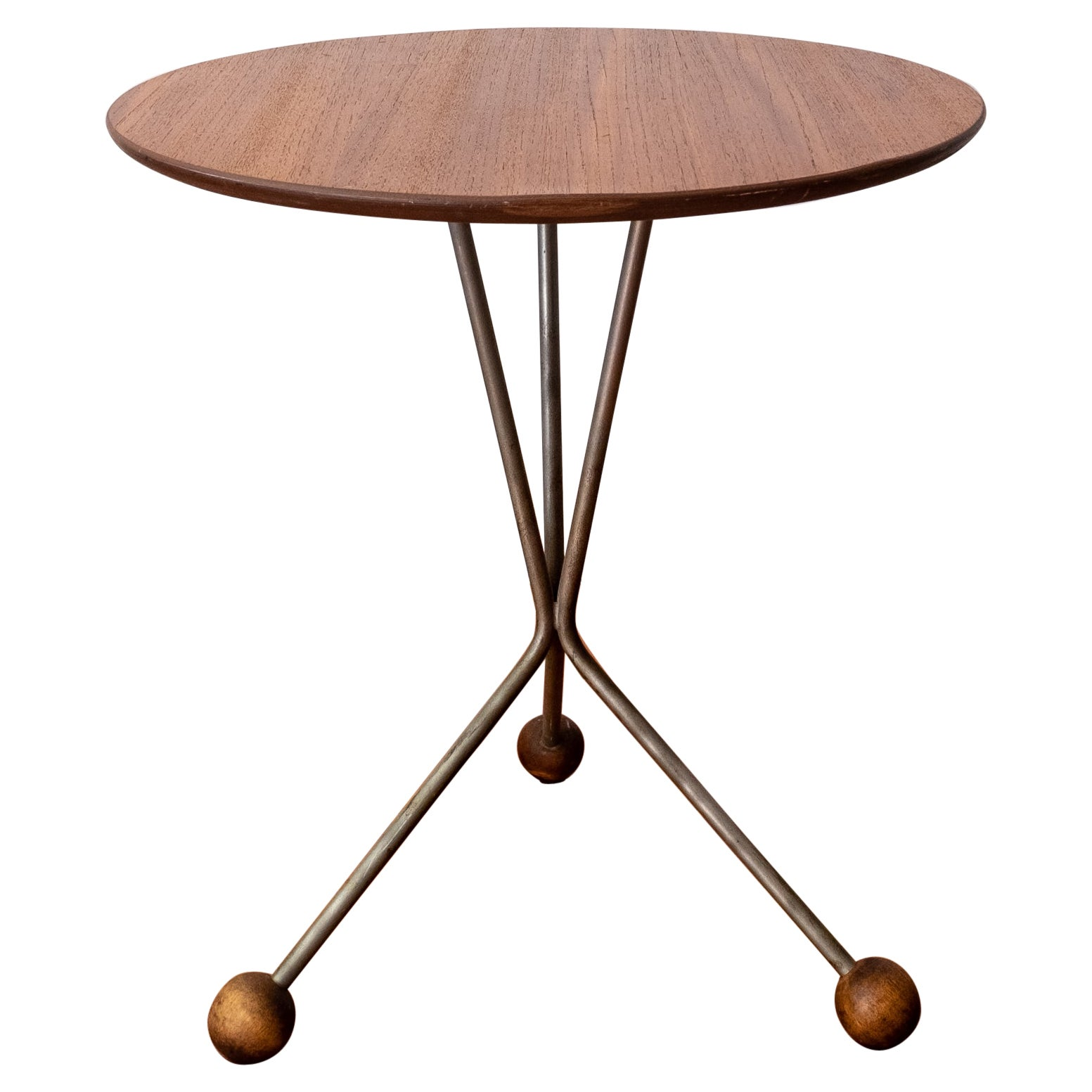 Albert Larsson Teak Tripod Side Table for Alberts Tibro