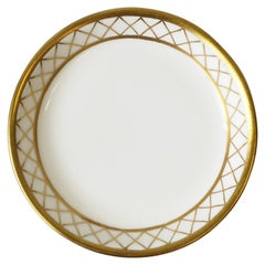 English Spode White and Gold Porcelain Jewelry Dish