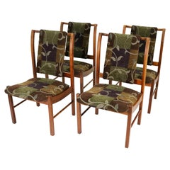 Mid-Century Walnut Dining Chairs by Lane Furniture, Set of 4