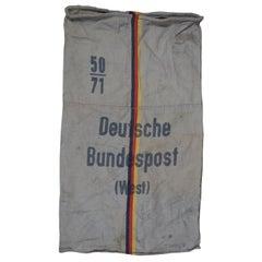 Vintage Deutsche Bundespost West Germany Post Mail Bag Canvas Sack Postal