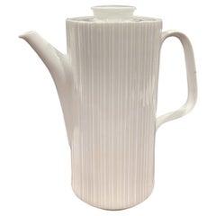 """""""Studio Line"""" White Porcelain Tea Pot by Tapio Wirkkala for Rosenthal"""
