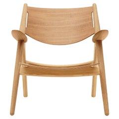 CH28T Lounge Chair in Oak Oil Finish by Hans J. Wegner