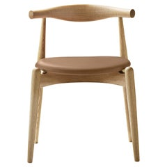 CH20 Elbow Chair in Oiled Oak with Thor 325 Leather Seat by Hans J. Wegner