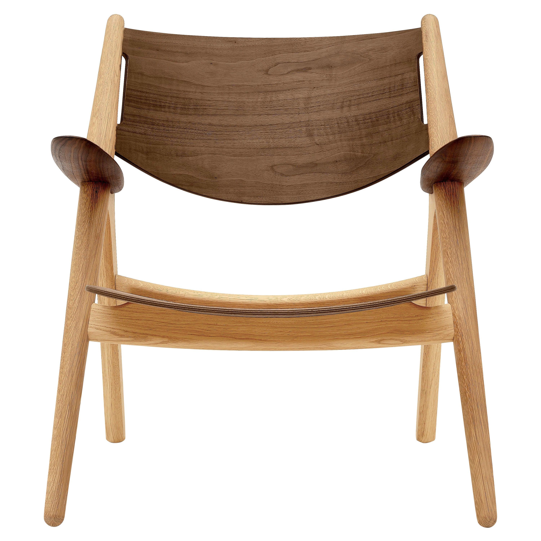 CH28T Lounge Chair in Oak/ Wanut Oil Finish by Hans J. Wegner