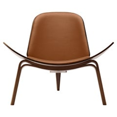 CH07 Shell Chair in Walnut Oil with Thor 307 Leather Seat by Hans J. Wegner