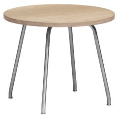 CH415 Coffee Table in Stainless Steel Frame with Oak Soap Top by Hans J. Wegner