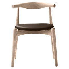 CH20 Elbow Chair in Oak Soap with Thor 306 Leather Seat by Hans J. Wegner