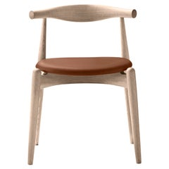 CH20 Elbow Chair in Oak Soap with Thor 307 Leather Seat by Hans J. Wegner