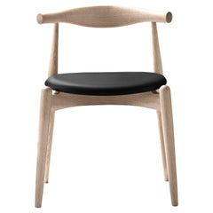CH20 Elbow Chair in Oak Soap with Thor 301 Leather Seat by Hans J. Wegner
