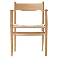CH37 Dining Chair in Oak Oil with Natural Papercord Seat by Hans J. Wegner