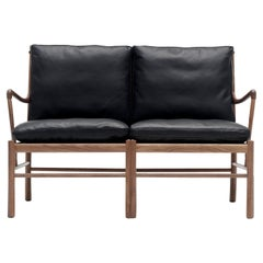 OW149-2 Colonial Sofa in Walnut Oil with Sif 98 Leather by Ole Wanscher