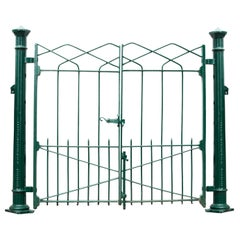 Reclaimed Wrought Iron Gates with Posts