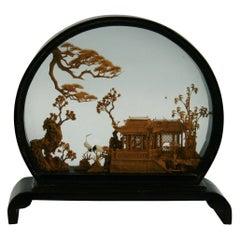 Antique Chinese Cork Diorama