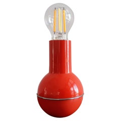 Red 'Culbuto' Table Lamp for Lamperti, Italy 1970's