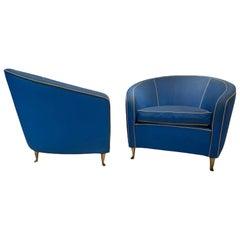 Pair of Italian Club Chairs circa 1950