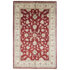 Traditional Carpet Rug Handwoven Floral Wool Red Area Rug