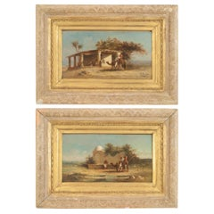 Pair of Victorian Middle Eastern Scene Oil Paintings