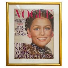 Vogue Magazine September 1970 Framed Lauren Hutton Cover