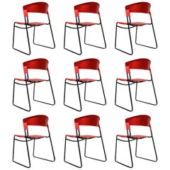 Set of 9 Stackable Paolo Favaretto & Airborne  Assisa 1986