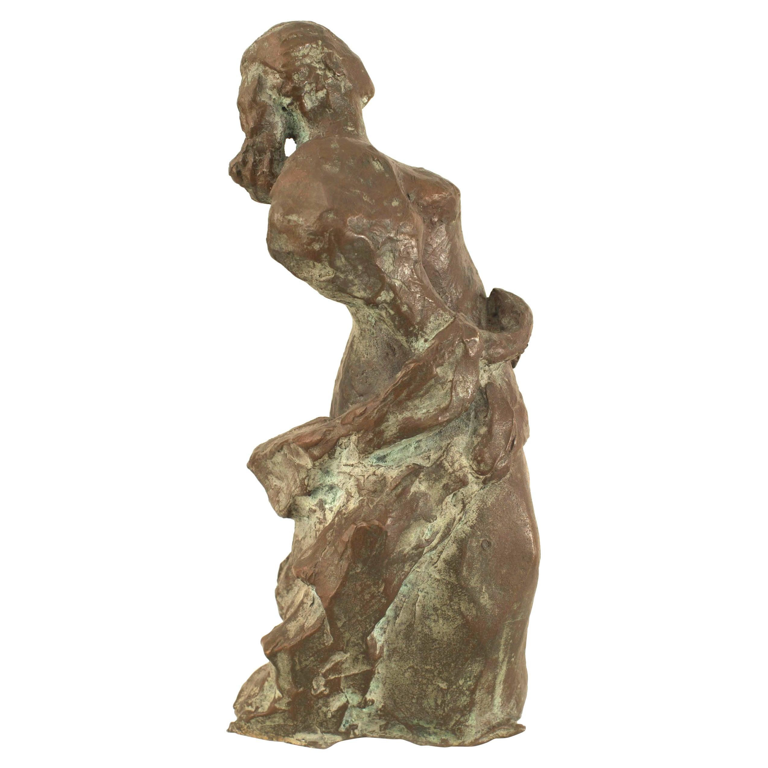 Post-War Abstract Bronze Sculpture