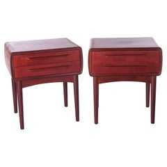 Set of Danish Design Bedside Tables Designed by Johannes Andersen by c.f.Silkebo