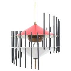 Angelo Brotto Pendant Lamp for Esperia, Italy, circa 1955