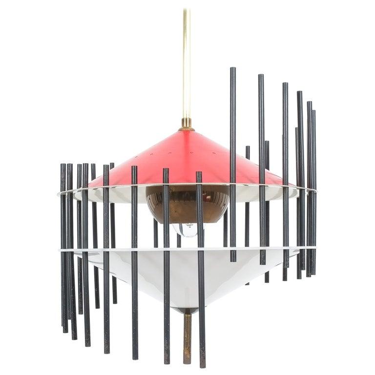 Angelo Brotto Pendant Lamp for Esperia, Italy, circa 1955 For Sale