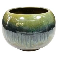Large, Glazed, Mid-Century Ceramic Cachepot, 1970s