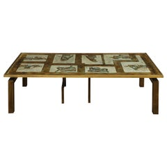 """Philip and Kelvin LaVerne Rare """"Medici"""" Coffee Table 1960s 'Signed'"""