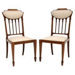 Pair of Antique Edwardian Inlaid Side Chairs