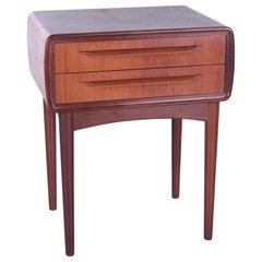 Danish Design Bedside Table Design by Johannes Andersen by C.F.Silkeborg, 1960