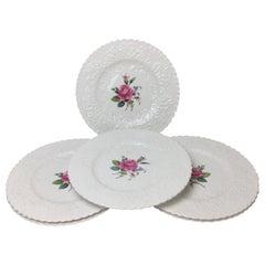 Set of Six Spode Bridal Rose Dinner Plates