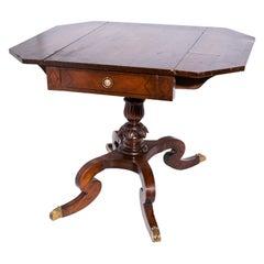 Regency Style Drop Leaf Sofa Table