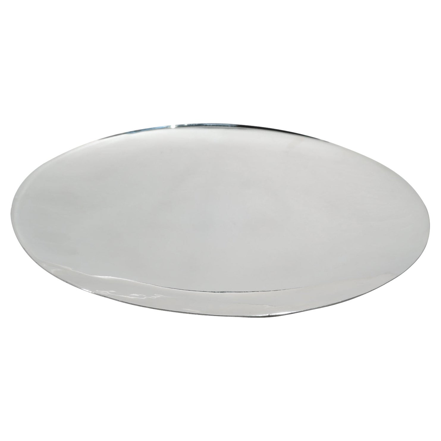 Cartier Mid-Century Modern Sterling Silver Footed Plate