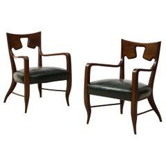 Rare Pair of Armchairs by Gio Ponti