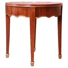 Baker Furniture French Regency Louis XVI Walnut and Parcel Gilt Tea Table