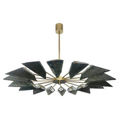 Murano Art Glass Sputnik Mid-century Chandelier, 1980