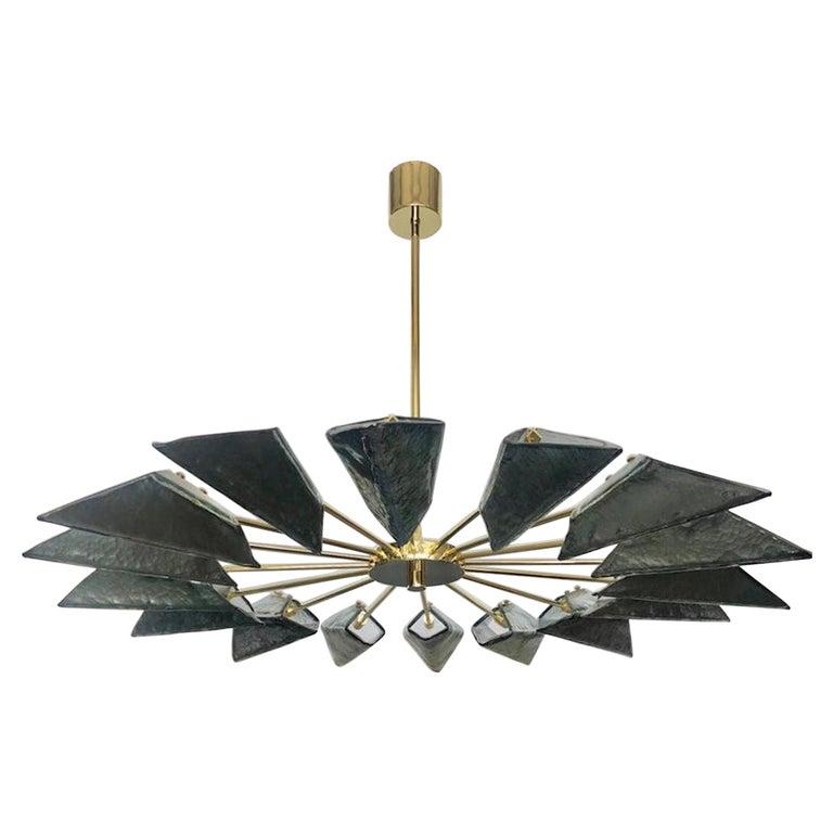 Murano Art Glass Sputnik Mid-century Chandelier, 1980 For Sale