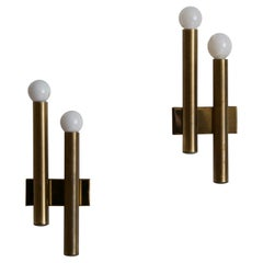 Candle, Wall Lights / Sconces, Brass, Italy, 1960s