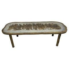LaVerne Bronze Romanesque Coffee Table